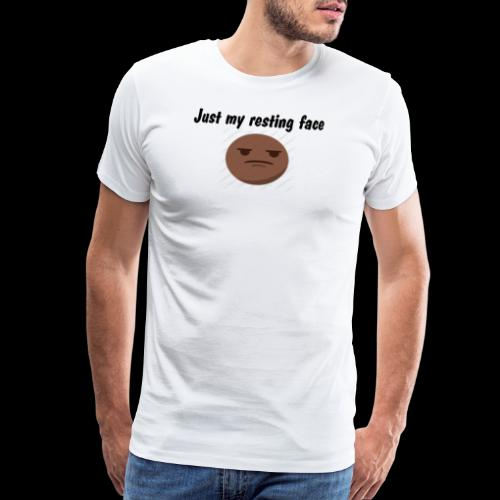 just my resting Face blac - Men's Premium T-Shirt