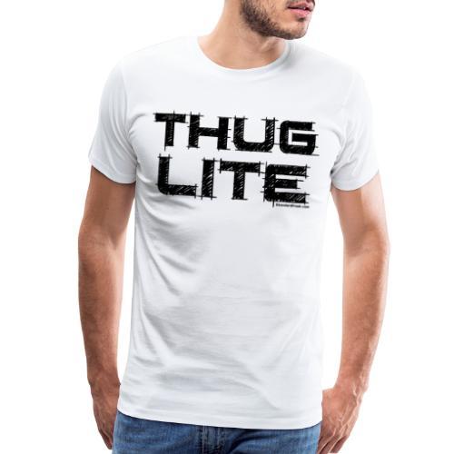 Thug Lite BLK.png - Men's Premium T-Shirt