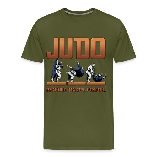 Judo Practice Makes Perfect Design - Men's Premium T-Shirt
