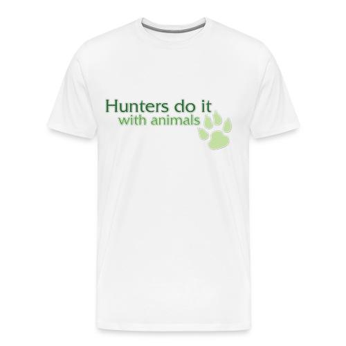 Hunters Do It World of Warcraft - Men's Premium T-Shirt