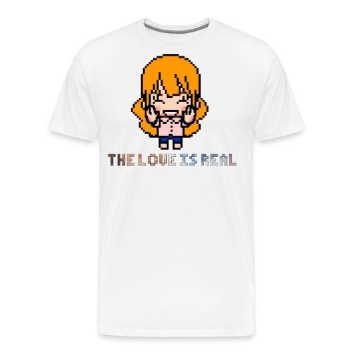 theloveisreal png - Men's Premium T-Shirt