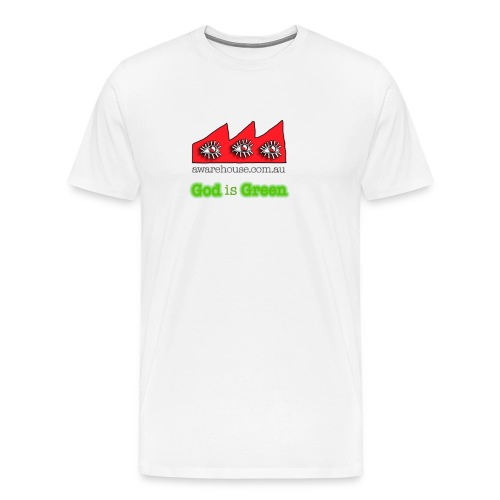 GodIsGreen onWhite - Men's Premium T-Shirt