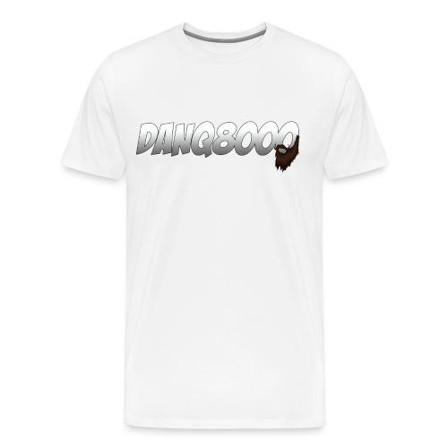 DanQ8000 Logo with Beard May 2015 png - Men's Premium T-Shirt