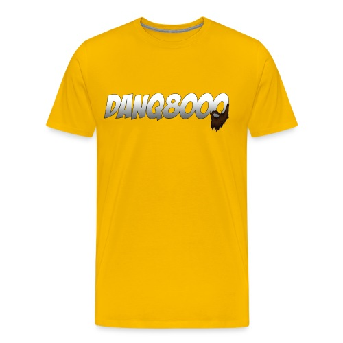 DanQ8000 Logo with Beard May 2015 png - Men's Premium T-Shirt