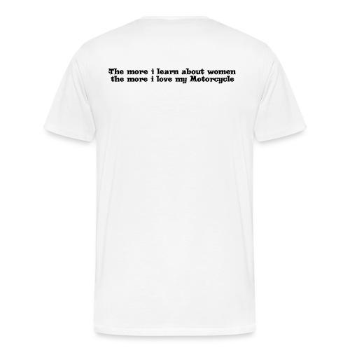 moreilearnblack - Men's Premium T-Shirt