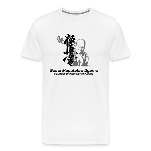 Mas Oyama Kyokushin copy 2 copy png - Men's Premium T-Shirt