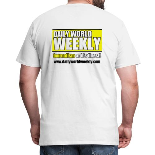 daily world weekly banner tagline web addy - Men's Premium T-Shirt