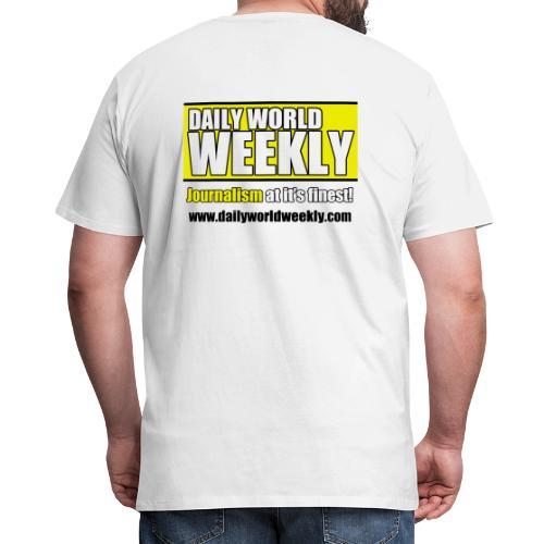 daily world weekly banner tagline web addy - Men's Premium T-Shirt