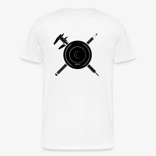Camera Calipers Pencil - Men's Premium T-Shirt
