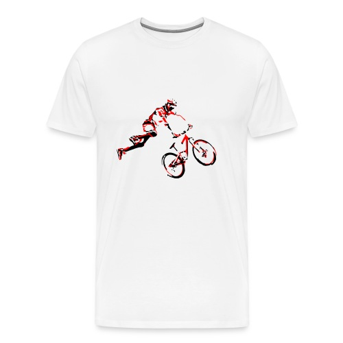 mtb air front red - Men's Premium T-Shirt