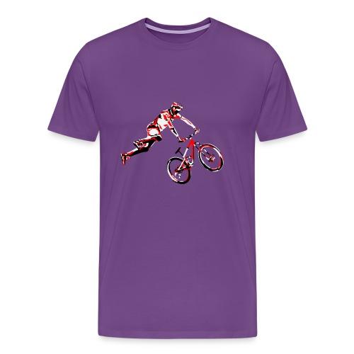 mtb air front red - Men's Premium T-Shirt