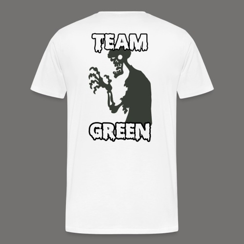 Team Green Zombie 1 png - Men's Premium T-Shirt