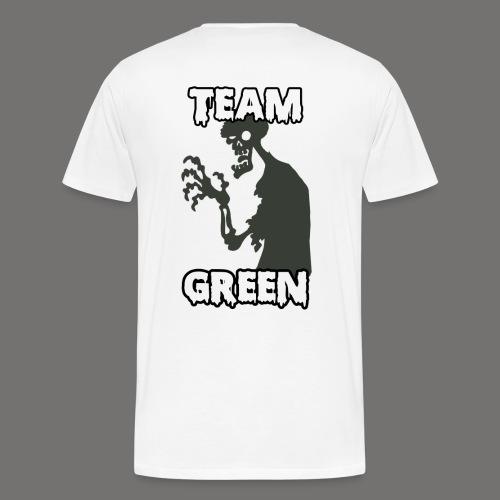 Team Green Zombie 1 png - Men's Premium T-Shirt