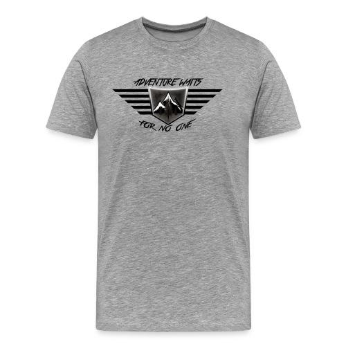 Adventure Symbol Black and White - Men's Premium T-Shirt
