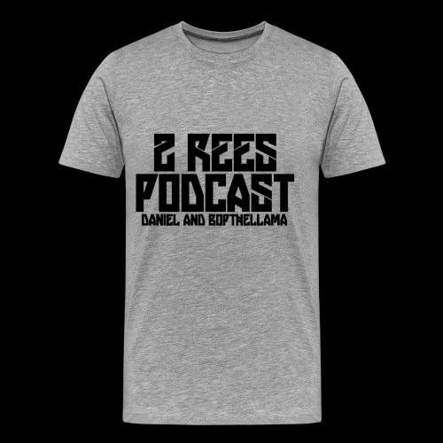 2 REES Podcast Logo (Black) - Men's Premium T-Shirt
