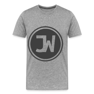 Grey Johannes With Logo - Men's Premium T-Shirt