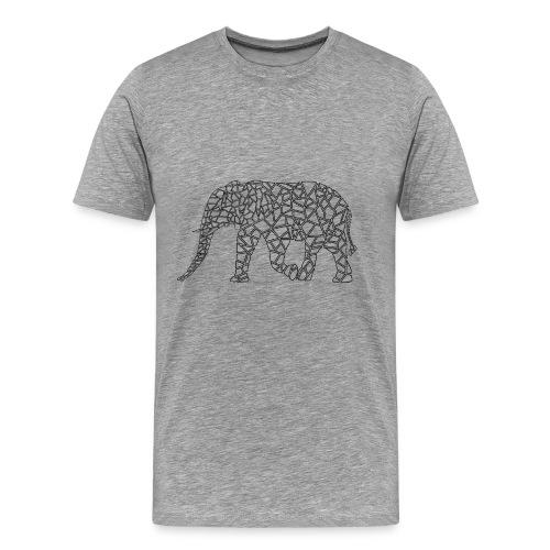 Elephant Geometric - Men's Premium T-Shirt