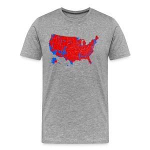 2016 Presidential Election by County - Men's Premium T-Shirt