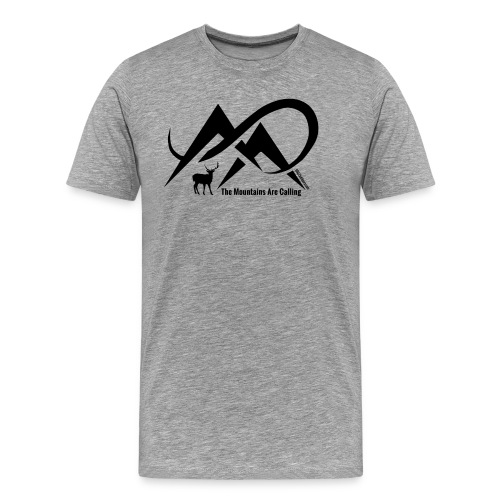 Elk - The Mountains Are Calling - Black Logo - Men's Premium T-Shirt