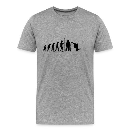 Snowboard evolution - Men's Premium T-Shirt