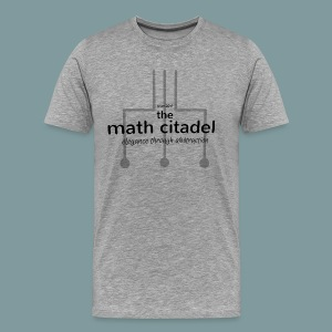 Abstract Math Citadel - Men's Premium T-Shirt