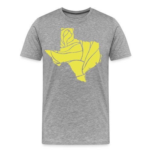 Texas Yellow Rose Vector - Men's Premium T-Shirt
