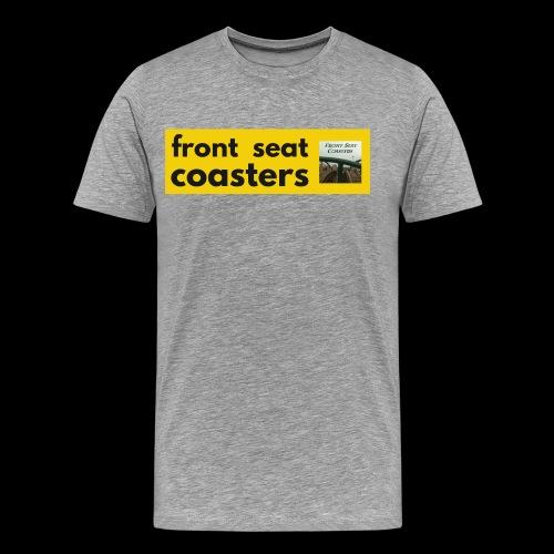 Front Seat Coasters modern classic logo 2017 - Men's Premium T-Shirt