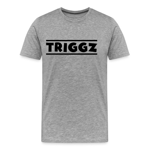 Triggz s Shirt Logo Black with Lines - Men's Premium T-Shirt