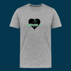 Dancer At Heart (Black Heart) - Men's Premium T-Shirt