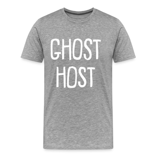 Ghost Host Design White Text - Men's Premium T-Shirt