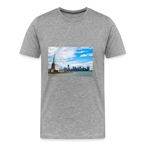 New York Skyline - Men's Premium T-Shirt