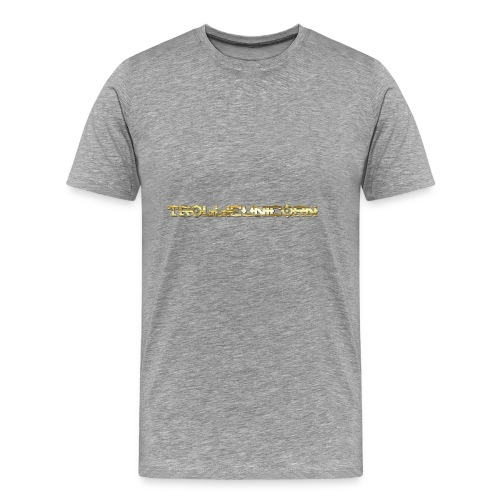 TROLLIEUNICORN gold text limited edition - Men's Premium T-Shirt