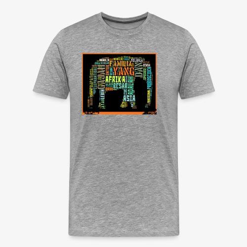 ELEPHANT TYPHOGRAFY - Men's Premium T-Shirt