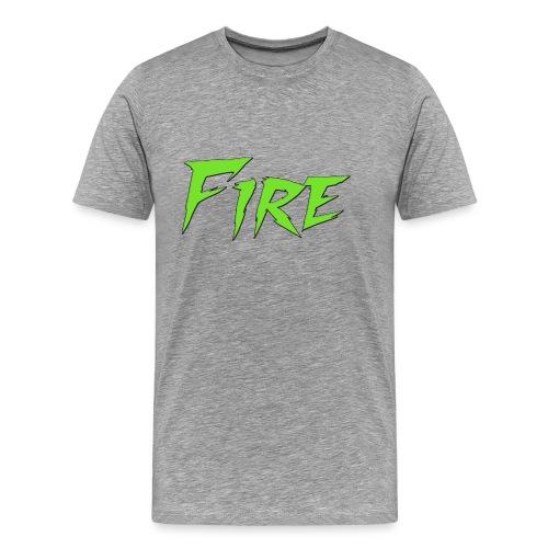 Fire Text - Men's Premium T-Shirt