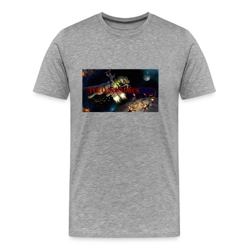 TyrannosaurusAXE-colorized - Men's Premium T-Shirt