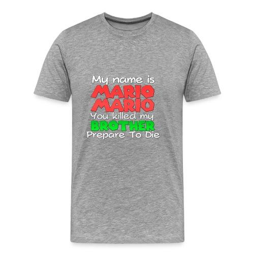 My name is Mario Mario - Men's Premium T-Shirt