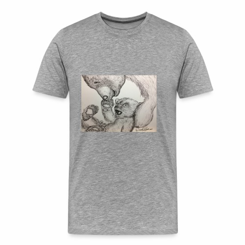 Playful bear - Men's Premium T-Shirt