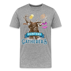 Funny Oktoberfest T Shirt Hunters Gatherers - Men's Premium T-Shirt