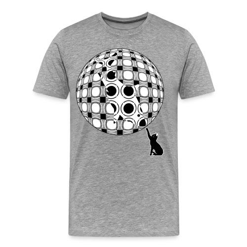 Sphere | Shark & Cat | Abstract Op Art - Men's Premium T-Shirt