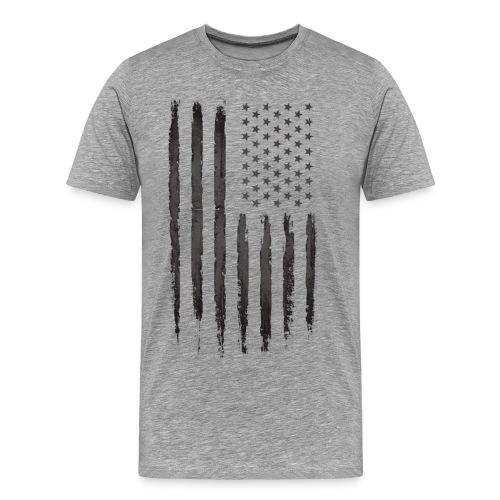 Black Grunge USA Flag - Men's Premium T-Shirt