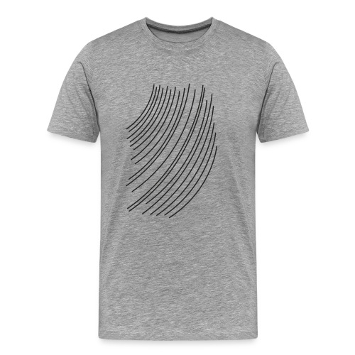 black line - Men's Premium T-Shirt