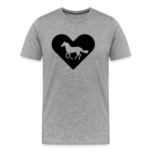 Heart-Horse (black) - Men's Premium T-Shirt