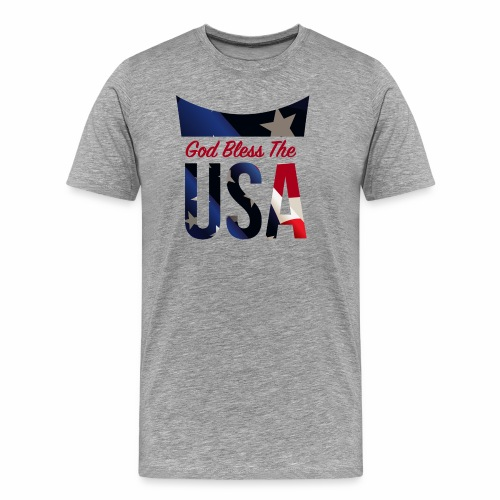 God Bless The USA Veterans T-Shirts - Men's Premium T-Shirt
