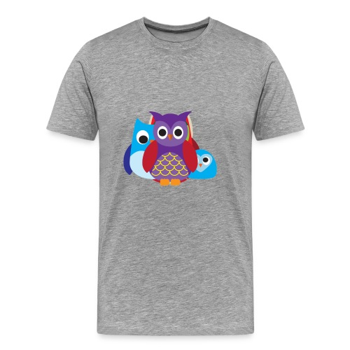 Cute Owls Eyes - Men's Premium T-Shirt