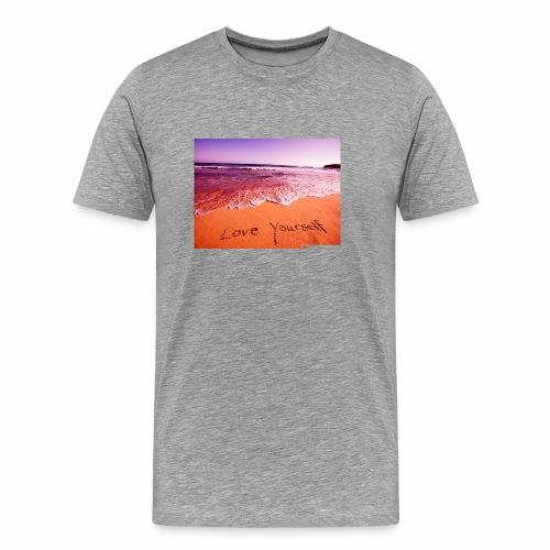 on beach love yourself wallpapers 1024x768 - Men's Premium T-Shirt