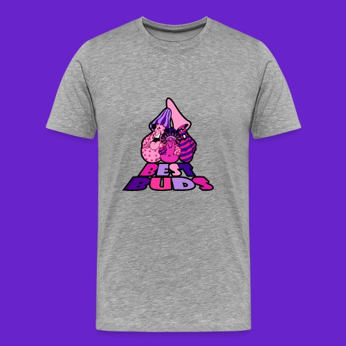 BEST BUDS PINK PURPLE - Men's Premium T-Shirt