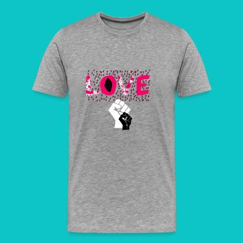 tshirt_1_love_wo_black_2_4 - Men's Premium T-Shirt