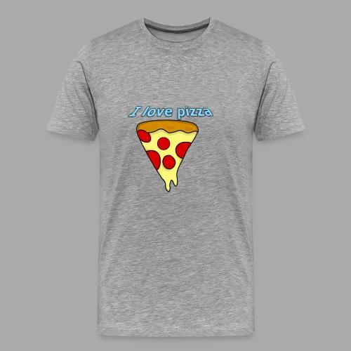 I love pizza - Men's Premium T-Shirt