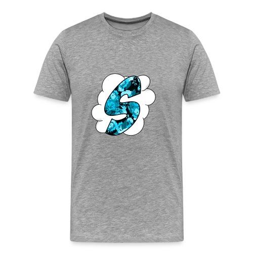 Skyz Blue Floral - Men's Premium T-Shirt