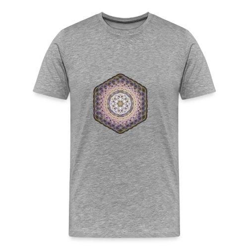 Flower of Life Rainbow Mandala - Men's Premium T-Shirt